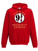 Harry Potter - Platform 9 3/4 Hooded Sweater Red