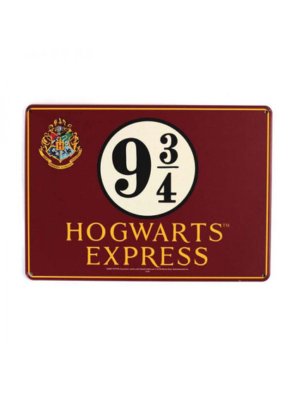 Harry Potter - Platform 9 3/4 Tin Sign - 21 x 15 cm
