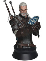 Witcher 3 - Geralt Playing Gwent Bust - 23 cm