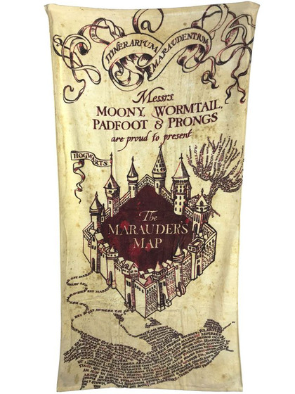 Harry Potter - Marauder's Map Towel - 150 x 75 cm
