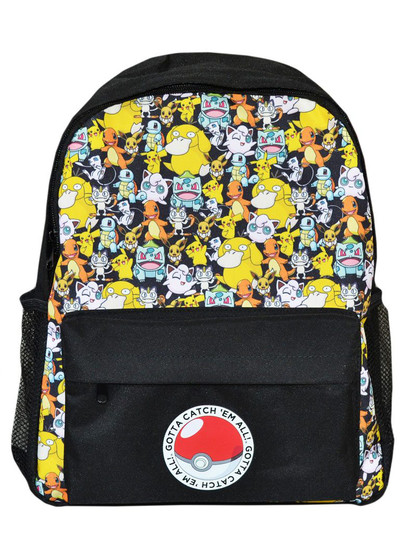 Pokemon - Backpack Characters Black