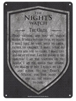 Game of Thrones - Nights Watch Tin Sign 21 x 15 cm