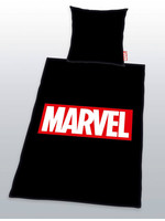 Marvel Comics - Logo Black Duvet Set - 135 x 200 cm