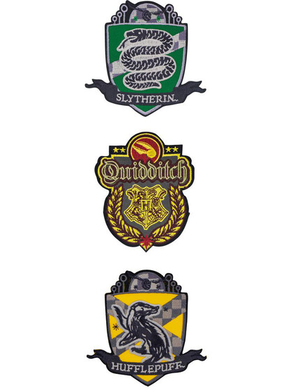 Harry Potter - Quidditch Patches 3-pack (Hogwarts)