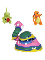 Pokemon - Battle Figure Set - Alolan Muk, Charmander & Larvitar