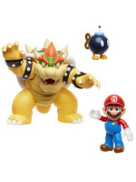 World of Nintendo - Mario vs. Bowser Lava Battle 3-Pack