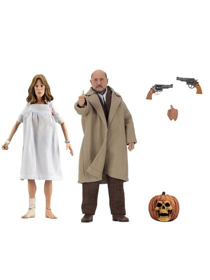 Halloween 2 - Dr. Loomis & Laurie Strode Retro Action Figures