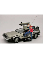 Back to the Future - 1983 DeLorean With Marty McFly - 1/18