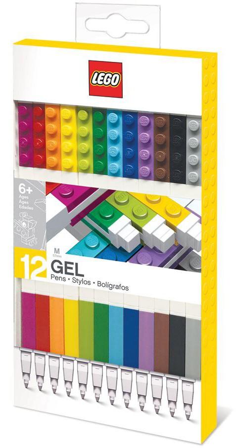 LEGO - Gel Pens 12-Pack (Bricks)