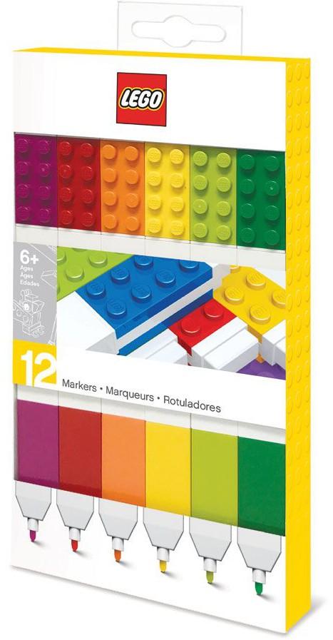 LEGO - Felt Tip Pens 12-Pack (Bricks)