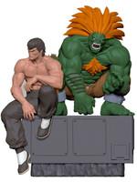 Street Fighter - Fei & Blanka PVC Statues - 1/8
