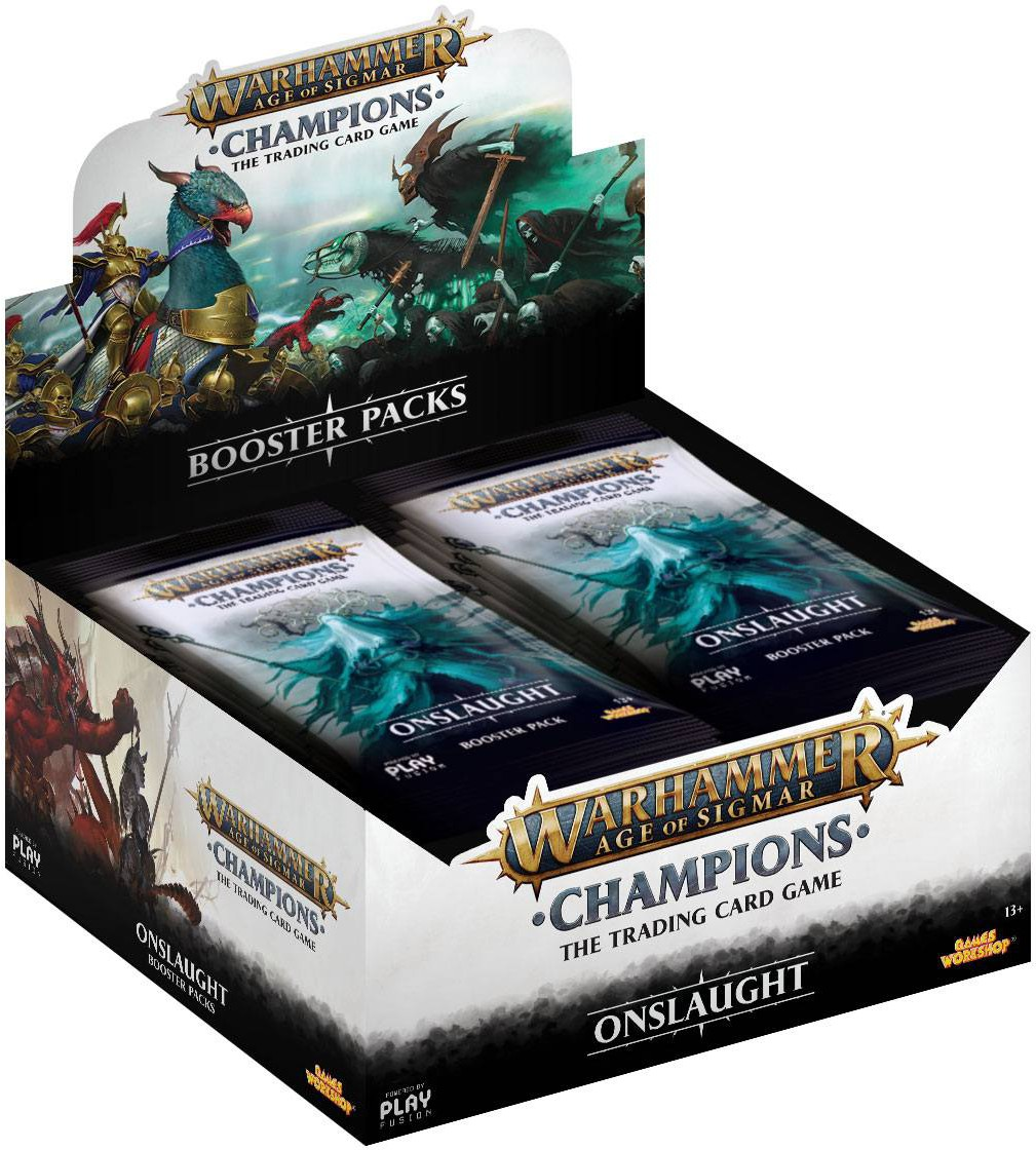 Warhammer Age of Sigmar: Champions - Onslaught Booster Display 24-pack