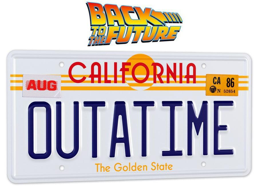 Back To The Future - OUTATIME DeLorean License Plate - 1/1