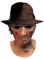 A Nightmare on Elm Street - Freddy Krueger Latex Mask with Hat (Deluxe)