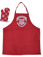 Harry Potter - Hogwarts cooking apron with oven mitt