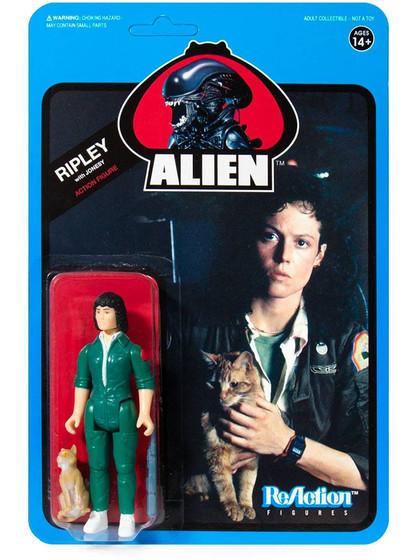 Alien - Ripley with Jonesy (Blue Card) - ReAction