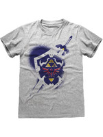 Legend Of Zelda - Shield T-Shirt Grey