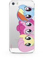 My Little Pony - Fluttershy Pinkie Pie and Rainbow Dash Transparent Phone Case