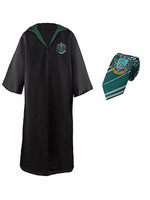 Harry Potter - Robe, Necktie & Tattoo Set Slytherin