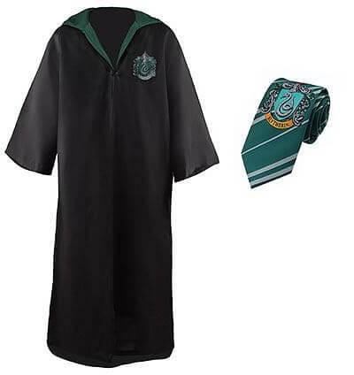 Harry Potter - Robe, Necktie & Tattoo Set Slytherin