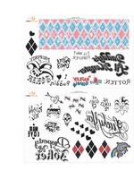 DC Comics - Harley Quinn Temporary Tattoos Set