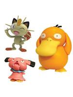Pokémon - Battle Figure Set - Psyduck, Meowth & Snubbull