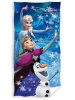 Frozen - Elsa, Anna and Olaf Beach Towel
