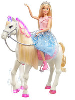 Barbie Princess Adventure - Doll and Prance & Shimmer Horse with Lights and Sounds