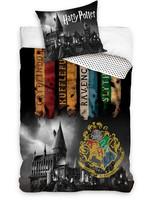 Harry Potter - Hogwarts with Crest and Houses Duvet Set - 160 x 200 cm