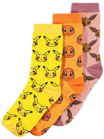Pokémon - Socks 3-Pack Icons - 39-42